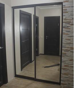 Раздвижные зеркальные двери для гардеробной цена