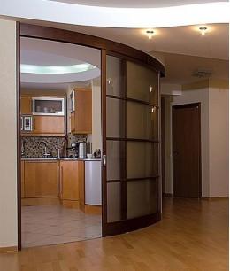 Круглые раздвижные двери