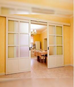 Широкие раздвижные двери межкомнатные
