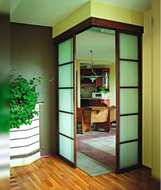 Угловые межкомнатные раздвижные двери
