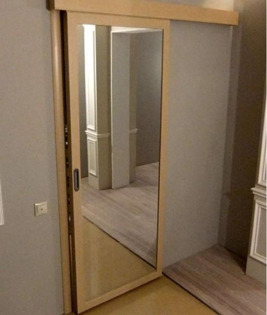 Раздвижные межкомнатные двери с зеркалом