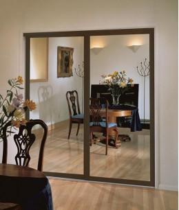 Зеркальные двери-купе на кухню