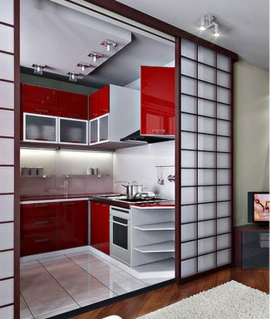 Раздвижные двери в студию на кухню