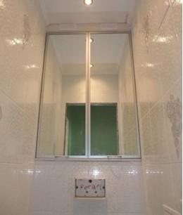 Двери для встроенного шкафа  в туалет