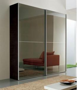 Подвесные зеркальные двери для шкафа-купе