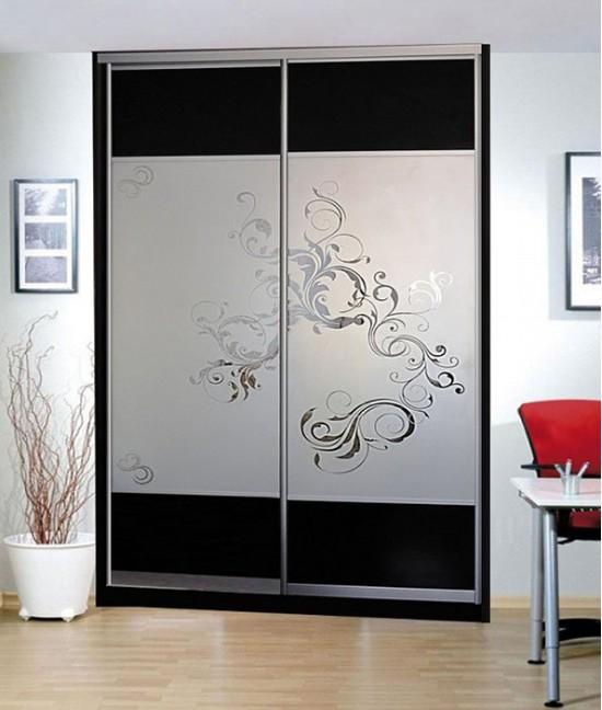 Гардеробные двери с рисунком