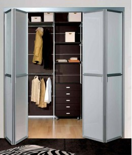 Складные двери книжка для гардеробной