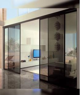 Большие стеклянные двери