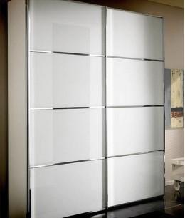Шкаф купе в спальню белый глянец