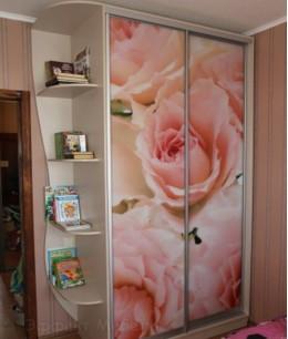 Шкафы купе с розами фотопечать